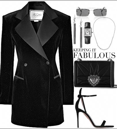 dark elegance look