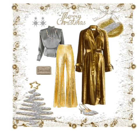 christmas silver and gold