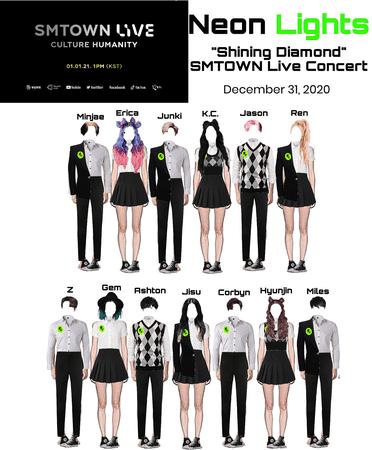 "Neon Lights ""Shining Diamond"" at SMTOWN Live Concert"