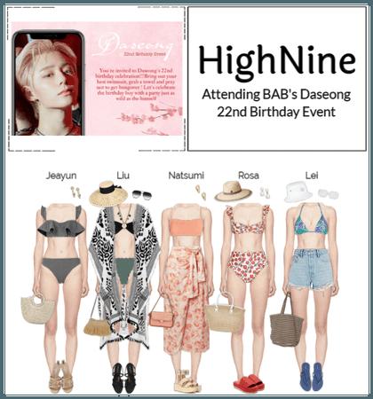HighNine (하이 나인) BAB's Daseong 22nd Birthday Event