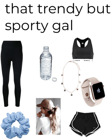 sporty but trendy girl