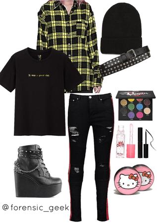 grunge emo girl