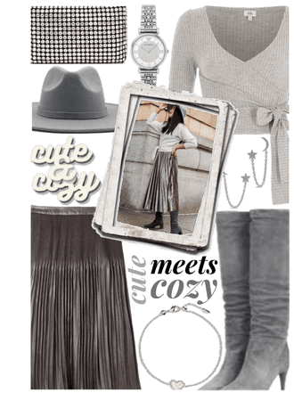 Cute and Cozy Pleated Skirt