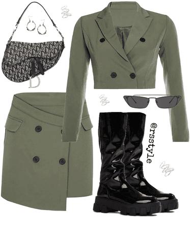 Olive suit set