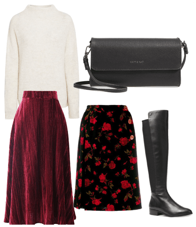 Cold-Weather Skirt Styling