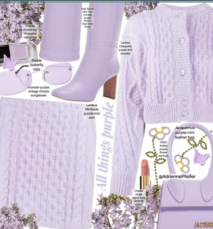 All Things Purple Spring Knit Wear💜