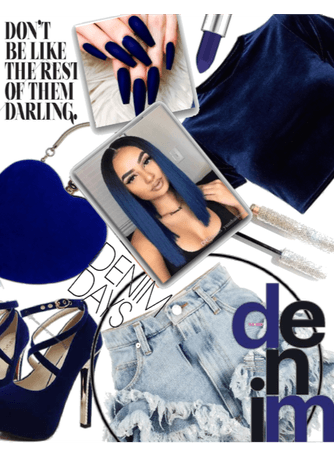 Royal Blue Denim ^DENIM SKIRT challenge ^