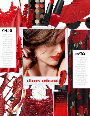 Lipstick Coordination: Crimson Romance (7.31.2021)