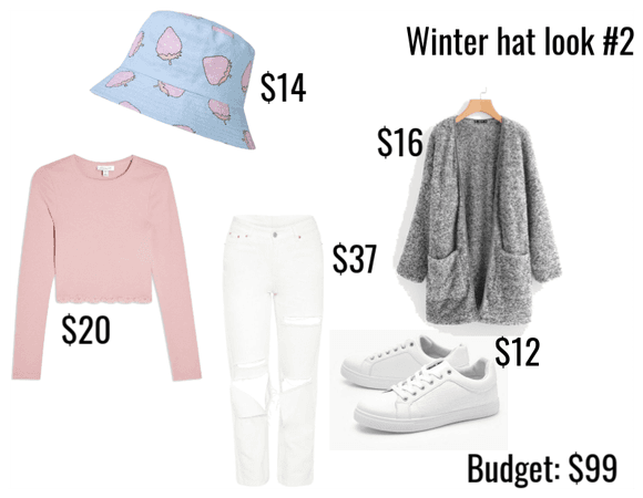 Chilly, bucket hat outfit