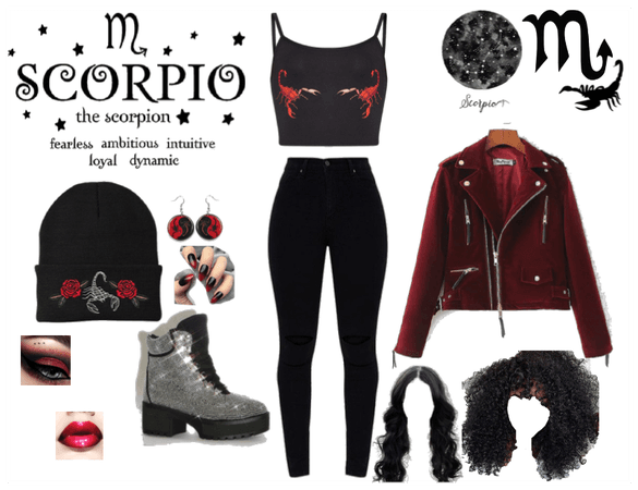 Scorpio black and red