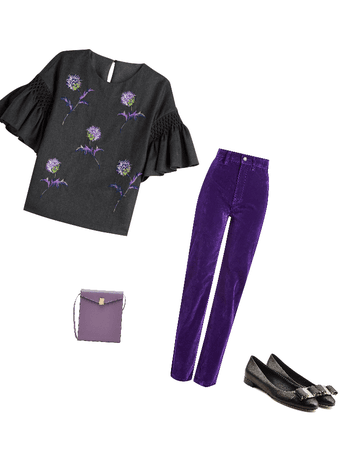 Black and purple