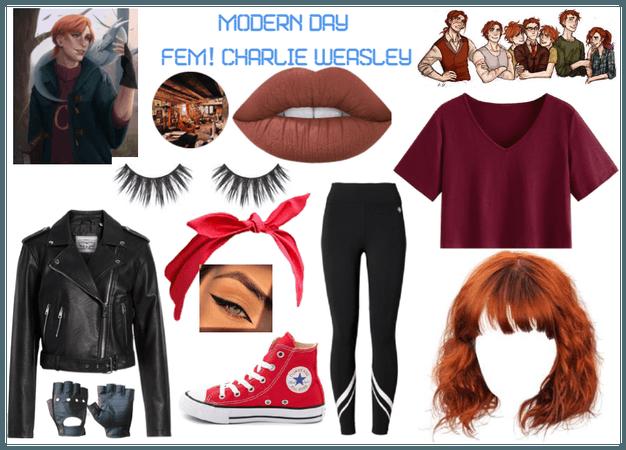 modern day characters 66: Fem! Charlie Weasley