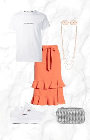 orange summer skirt 2