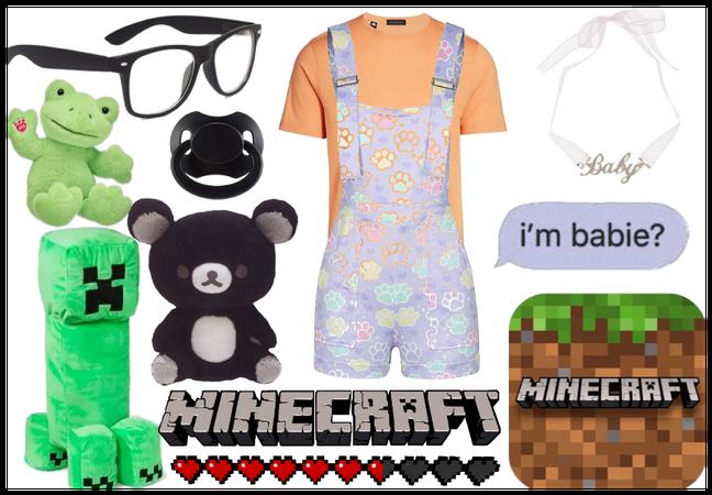 minecraft & babie time >,<