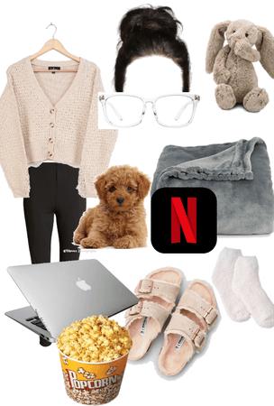 Netflix and Chill ❤️🤍