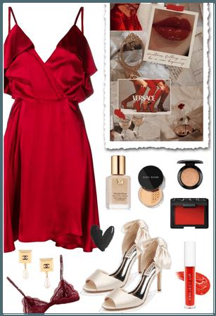 Red + Beige