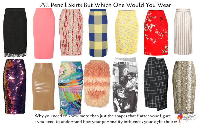 Personality of pencil skirts