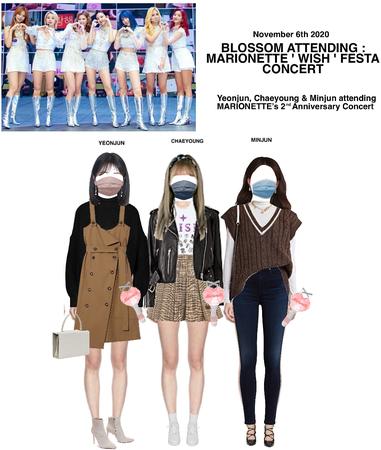 BLOSSOM ( 벨옸옴 ) YEONJUN, CHAEYOUNG & MINJUN Attending MARIONETTE'S ' WISH ' FESTA 2020