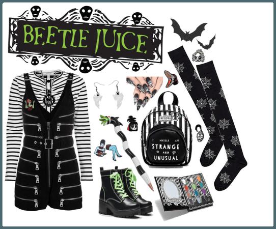 Beetlejuice inspired look