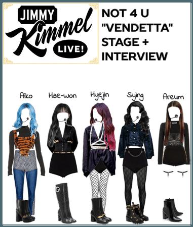 """Not 4 U """"Vendetta"""" Stage + Interview"""