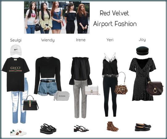 Red Velvet Airport Fashion