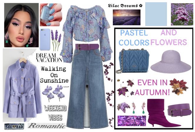 Refined look for an autumn holiday among lavender!