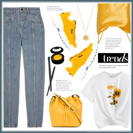 Sunflower Print Top!