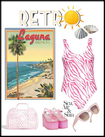 Pink retro swimsuit
