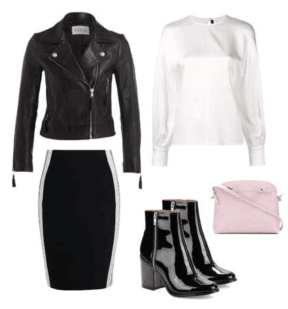 Monochrome With a Pop of Pink