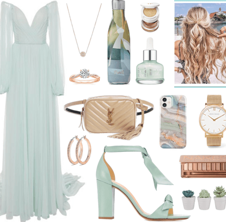 Dress with Green Water