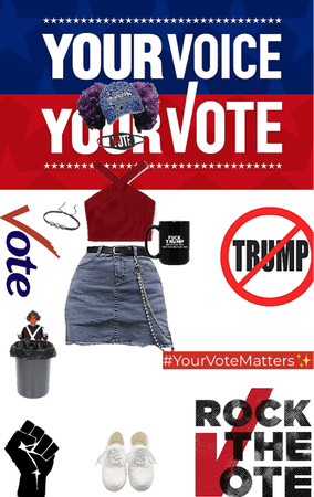 Voting Outfit❤️🤍💙
