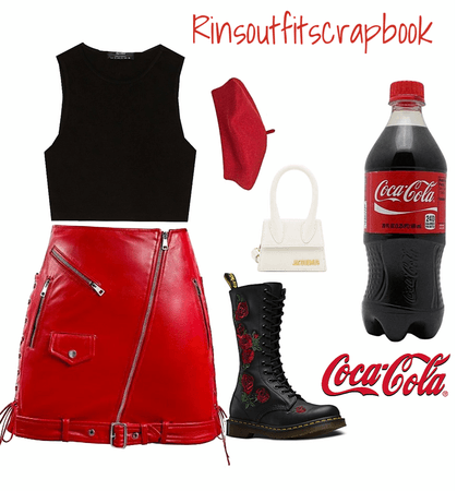 Coke as an outfit❤️🤍