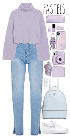 Pastels (Lilac and baby blue)