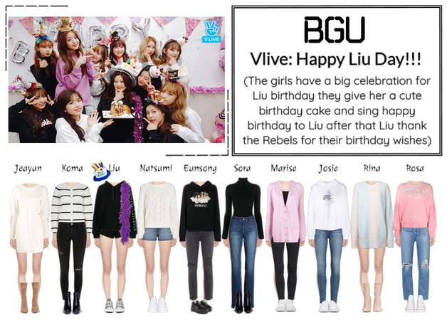 BGU Vlive: Happy Liu Day!!!