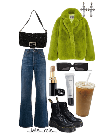 Fuzzy Jacket Outfit
