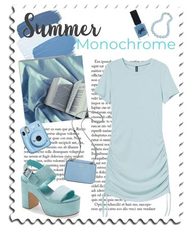 Blue Summer Monochrome