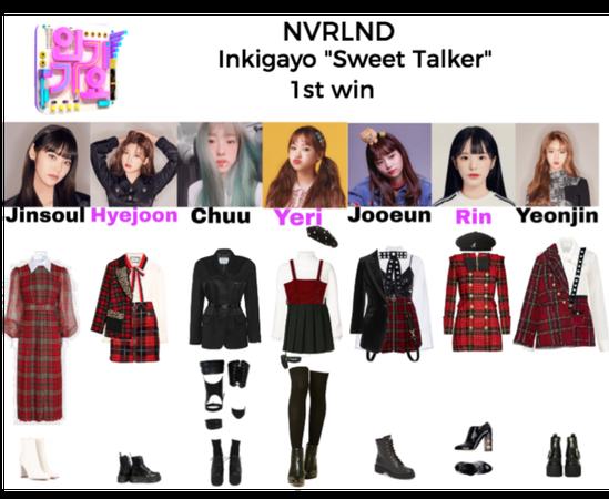 "NVRLND ""Sweet Talker"" Inkigayo 1st win"
