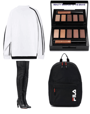 Hey guyss! today im wearing a baggy, oversized jumper with knee high boots and a cute black backpack xxx hope u like xx💄