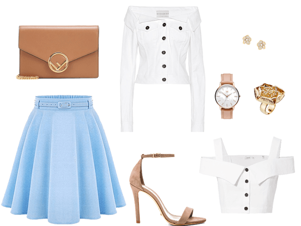 Pretty in White and Blue