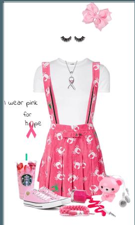 I wear pink for hope!
