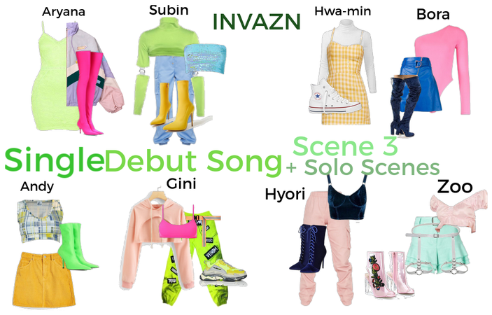SINGLE DEBUT SONG(scene 3 + solo scenes) INVAZN