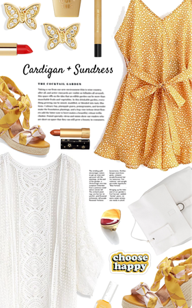 cardigan + sundress