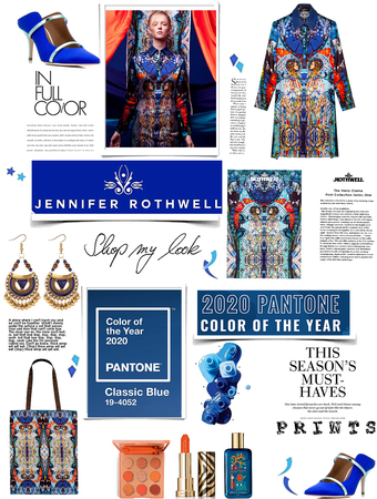 color of the year blue. featuring prints by Jennifer rothwell