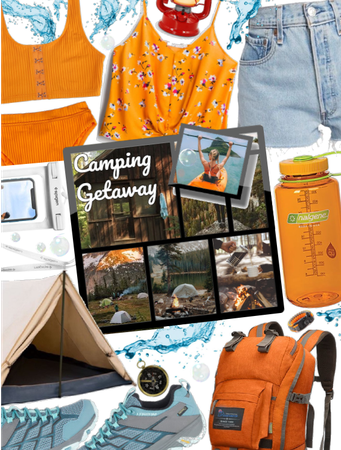 Kayaking and camping style| Orange and blue