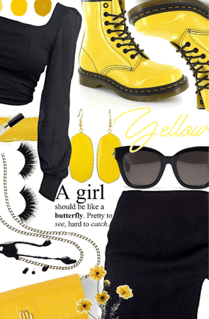 Yellow and Black