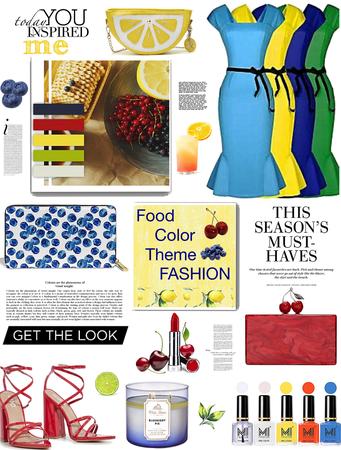 Food color theme fashion