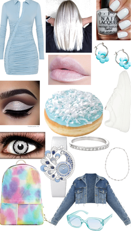 blue frosted