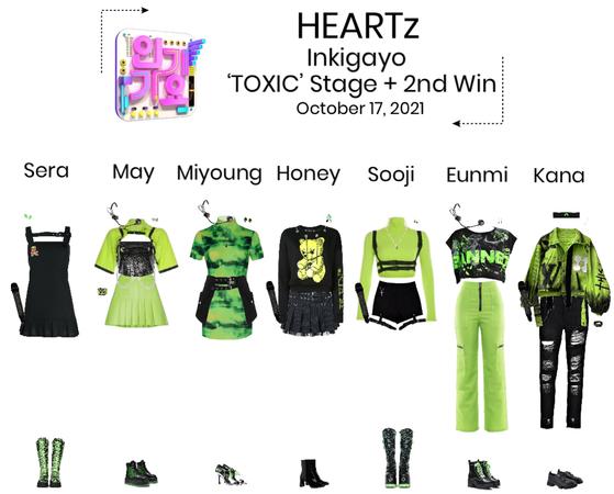 HEARTz//'TOXIC' Inkigayo Stage + 2nd Win