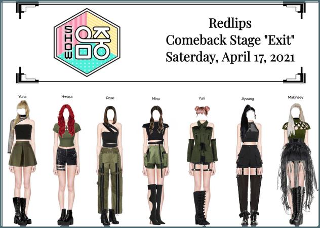 "Redlips (붉은 입술) ""Exit"" Comeback Stage"