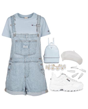 baby blue & white
